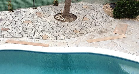 Carolinas Concrete Finishers Poolside Patio
